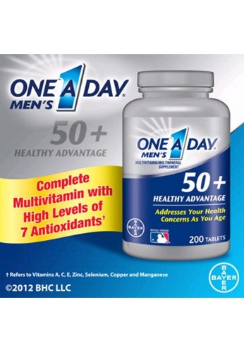 Multivitaminas Hombres Men's One A Day 50+, 200 Tabletas
