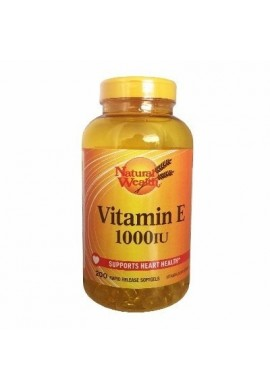 Vitamina E - 1000 Iu 200 Grajeas Natural