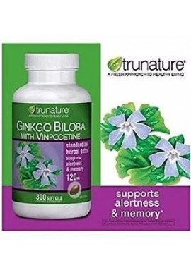 Ginkgo Biloba,120 Mg, 300 Sofgels, Trunature