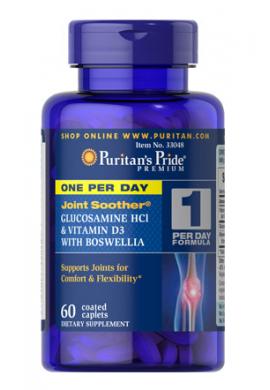 Glucosamina, vitamina D3 y boswellia, uno por día