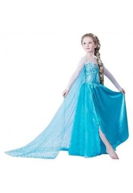 Disfraz Vestido Elsa Frozen y Accesorios