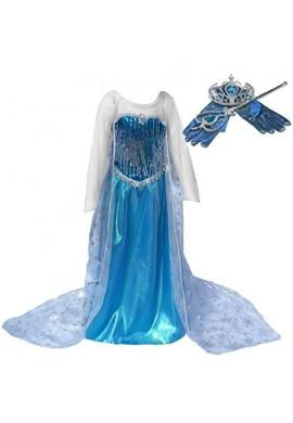 Disfraz Vestido Largo Elsa Frozen