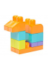 MATTEL MEGA BLOKS Bolso grande de bloques para construir, color de rosa, 80 piezas