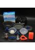 Juego de utensilios de cocina Estufa Carabiner Canister soporte trípode plegable Spork bisgear camping