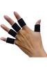 Bandas de férula para dedos Guardia vendaje deportes Apoyo 10pcs/set negro
