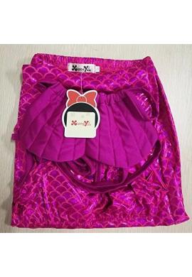 Vestido De Baño Sirenita Con Cola Color Rosa