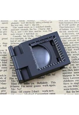 Lupa Para Leer Yosoo 10 X 28mm Mini Plegable De Tres 10 X Lupa Cinc