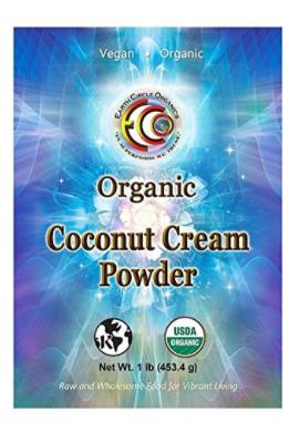 Earth Circle Organics Crema de Coco en Polvo 1 lb