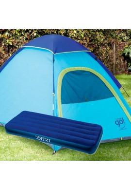Combo Camping Carpa Coleman Go Con Colchón Inflable Sencillo Intex