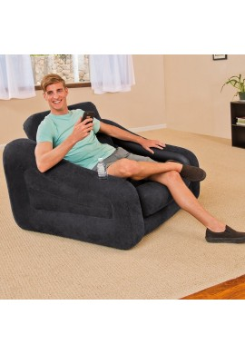 Sofa Cama Personal Sencillo Inflable Intex Negro