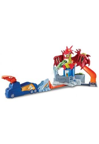 Hot Wheels Pista Carros Dragón Niños Racing Mattel *