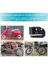 Candado alarma para motocicleta, cerradura de disco alarma de 110db, Bicicletas