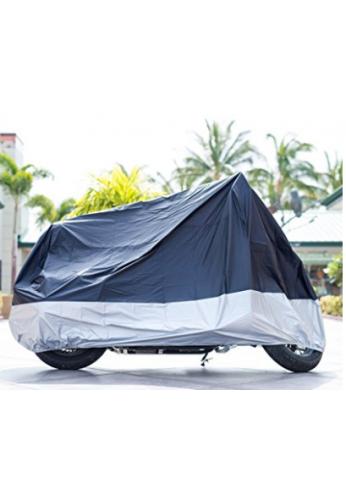 """Funda de moto XYZCTEM negro impermeable para el sol, para hasta 108 """" (XX Largo & Hoyos de seguridad)"""