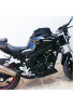 Maletín para tanque de motocicleta, resistente al agua magnético súper negro