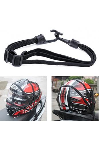 Kangnice retráctil correa elástica para el equipaje del casco de la motocicleta, 2 ganchos