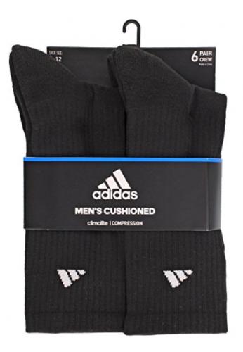 Calcetines deportivos adidas para hombres (paquete de 6)