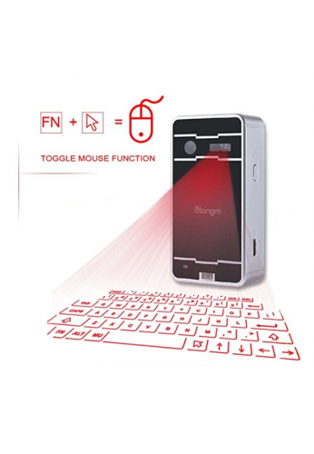 Mini teclado láser, atongm Official Virtual Projection Bluetooth Wireless Keyboard para iPad iPhone Android Smart Phones