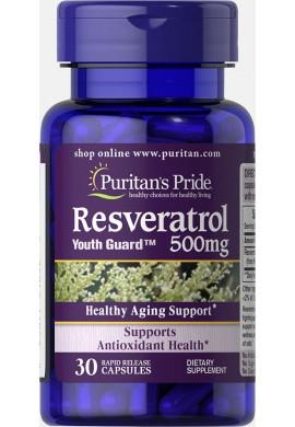 Resveratrol 500 mg Tratamiento Anti Envejecimiento Por 60 Capsulas