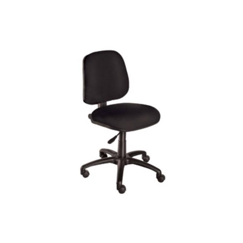 Silla de escritorio ofc giratoria sin brazos negro cuero for Silla escritorio con brazos