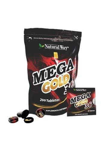Mega Gold 36 X 200 Tabletas + 100 Gratis_potenciador Natural
