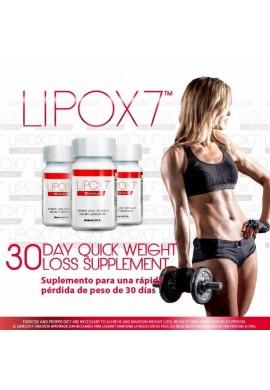 Lipox7 X 30 Capsulas Suplemento- Dietario Quema Grasa Suprime Apetito,