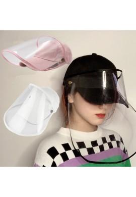 Gorra con careta de proteccion antivirica