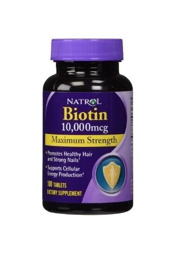 Natrol Biotina 60 tabletas fuerza máxima 10.000 mcg