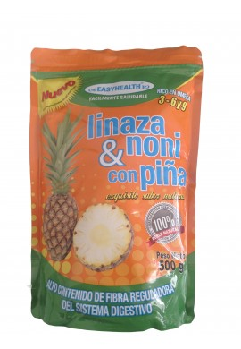 FIBRA DE LINAZA CON NONI Y PIÑA, FIBRA SUPLEMENTARIA 100% NATURAL